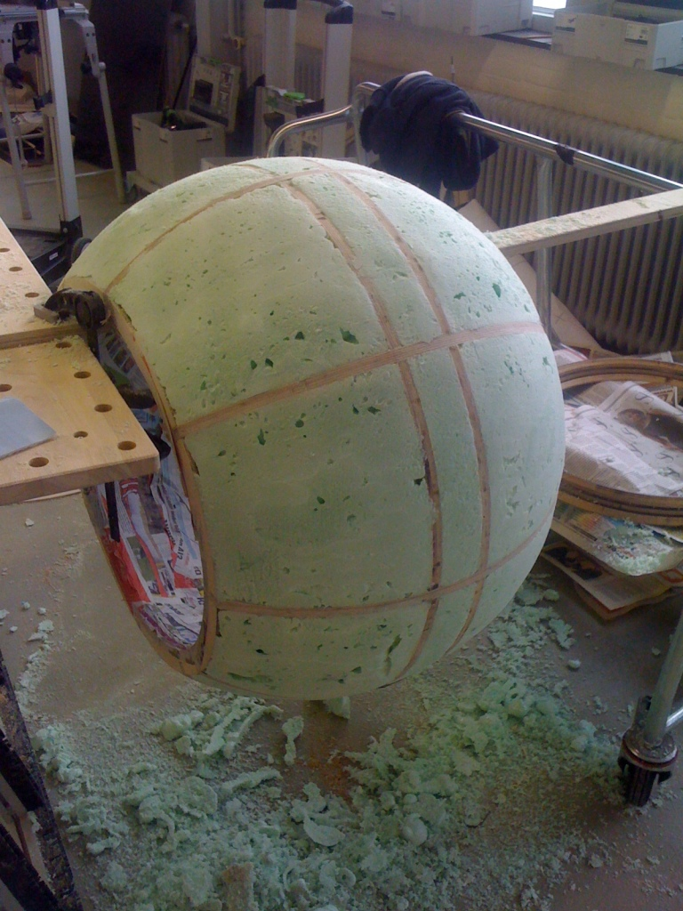 The PU was made smooth by sanding