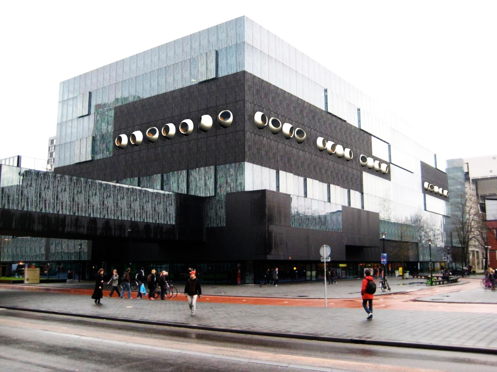 Facade proposal for the Library in Utrecht