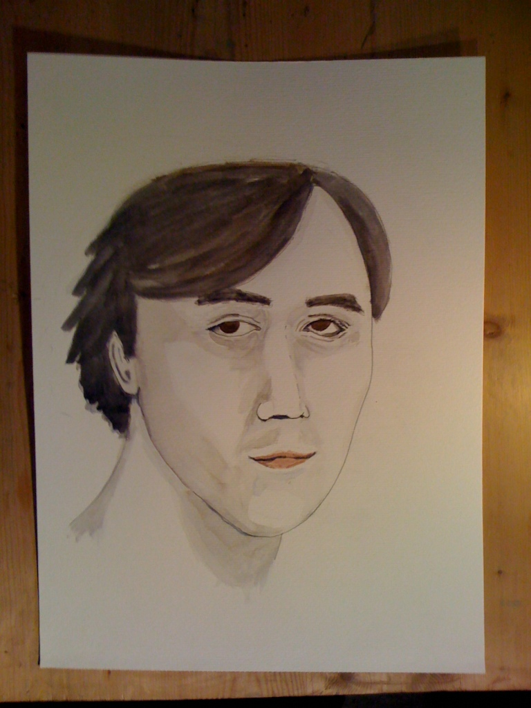 Selfportrait in aquarel